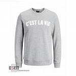 JACK&JONES, 12129162, Толстовка Light Grey Melange