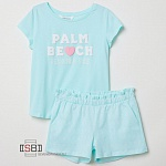 H&M, 88900, Комплект (футболка + шорты) Turquoise Greenish Light